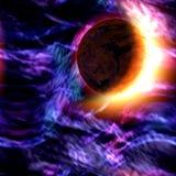 Scène de l'espace de Sci fi illustration de vecteur
