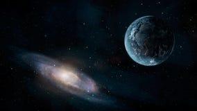 Scène de l'espace Planète de la terre avec la galaxie Éléments meublés par NAS illustration stock