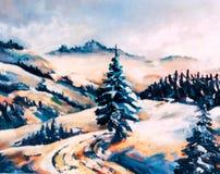 Scène de l'hiver Illustration Libre de Droits