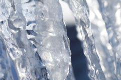 Scène de l'hiver avec de la glace et la neige photographie stock libre de droits