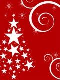Scène de l'hiver - carte de Noël Image stock