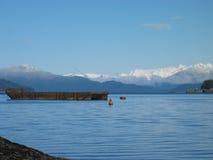 Scène de l'hiver de l'Alaska Photos stock