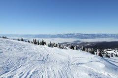 Scène de l'hiver de neige sur Kopaonik   Photo stock
