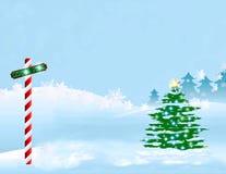 Scène de l'hiver de Pôle Nord Photo stock