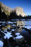 Scène de l'hiver de Yosemite Photographie stock libre de droits