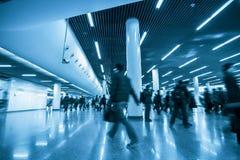 Scène de la station de métro Photographie stock libre de droits