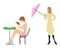 Scène de la vie de femme illustration libre de droits