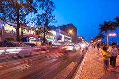 Scène de la vie de nuit dans la capitale Phnom Penh, Cambodge Photo stock