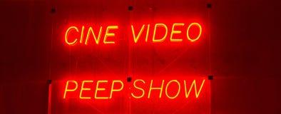 Scène de lumière rouge Photographie stock libre de droits
