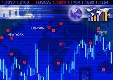 Scène de marché de changes de devise étrangère Photo stock
