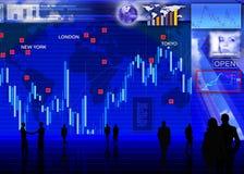 Scène de marché de changes de devise étrangère Images stock