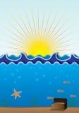 Scène de mer Illustration Stock
