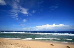 Scène de mer de l'île verte de Taiwan Image stock