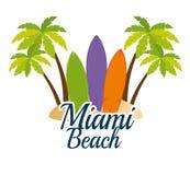 Scène de Miami Beach la Californie illustration de vecteur