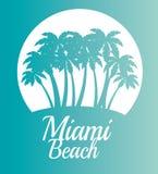 Scène de Miami Beach la Californie illustration libre de droits