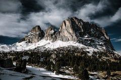 Scène de montagne dans les dolomites Photo libre de droits