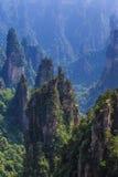 Scène de montagne de roche à Zhangjiajie Forest Park national, Hunan Photos stock