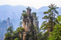 Scène de montagne de roche à Zhangjiajie Forest Park national, Hunan Photos libres de droits