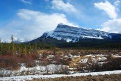 scène de montagnes de source Photos libres de droits