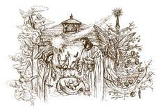 Scène de nativité illustration de vecteur