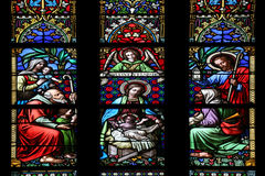 Scène de nativité, adoration des bergers image libre de droits