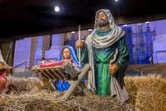 Scène de nativité au marché de tradition de Noël image stock