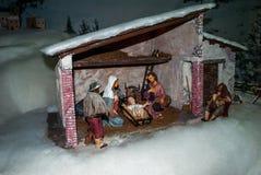 Scène de nativité de Noël Photographie stock