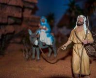 Scène de nativité de Noël Photos stock