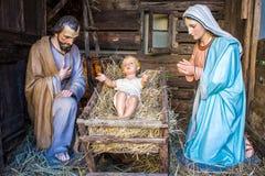 Scène de nativité de Noël Photo libre de droits