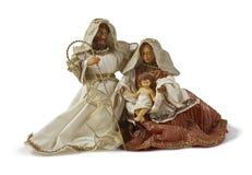 Scène de nativité de Noël. Famille sainte Images stock