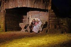 Scène de nativité de Live Christmas images stock