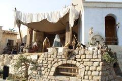 Scène de nativité sur la place de St Peter Image libre de droits