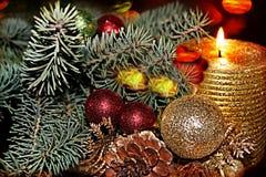 Scène de Noël, carte de voeux Photo libre de droits