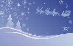 Scène de Noël de l'hiver Photos stock