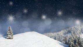 Scène de Noël, paysage, paysage Image libre de droits