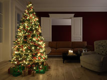 Scène de Noël rendu 3d Photographie stock