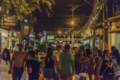Scène de nuit à Porto Galinhas, Brésil Images libres de droits