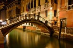 Scène de nuit à Venise Images libres de droits