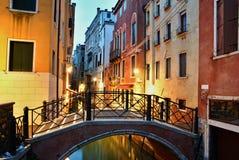 Scène de nuit à Venise Photos libres de droits