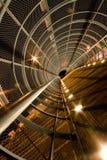 Scène de nuit, construction de fer Images stock
