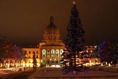 Scène de nuit d'Edmonton photographie stock libre de droits