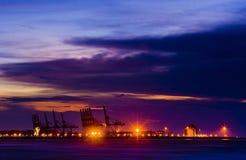 Scène de nuit dans la ville neuve de Taïpeh Image stock