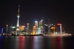 Scène de nuit de Changhaï Image libre de droits