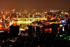 Scène de nuit de Chongqing Images libres de droits