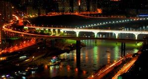 Scène de nuit de Chongqing Photographie stock libre de droits