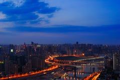 Scène de nuit de Chongqing Photos stock
