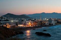 Scène de nuit de Chora, Naxos, Grèce 2 Images libres de droits