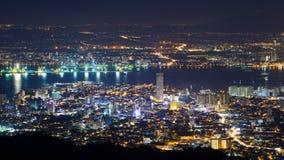 Scène de nuit de colline de Penang photos libres de droits