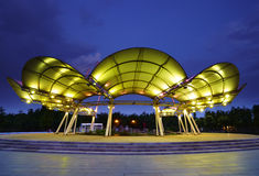Scène de nuit de lac Lihu Photo stock