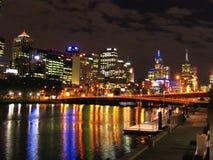 Scène de nuit de Melbourne Photos stock